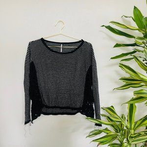 Free People Long Sleeve with crochet details